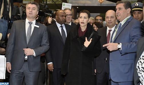 """الأميرة للا مريم تفتتح الرواق المغربي بالمعرض الدولي """"الأسبوع الأخضر"""" في دورته الـ81 ببرلين"""