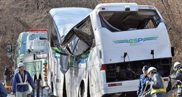 مصرع 14 شخصا في انحراف حافلة عن مسارها في اليابان