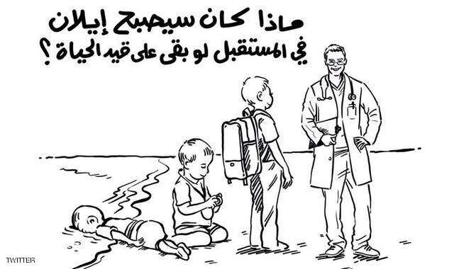 الملكة رانيا ترسم للرد على سخرية