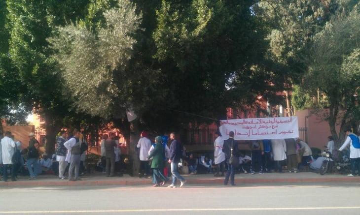 عاجل: الأساتذة المتدربون يبدأون اعتصامهم أمام مبنى نيابة وزارة التربية الوطنية بمراكش + صور