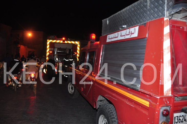 عاجل: إندلاع حريق مهول بدوار حاحا مراكش