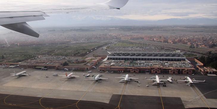 مطار مراكش المنارة يحتل المرتبة الثانية ضمن حركة النقل الجوي بمختلف المطارات