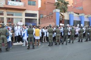 الجمعية المغربية لحقوق الإنسان تشجب مصادرة الحق في التنقل للأساتذة المتدربين بمراكش
