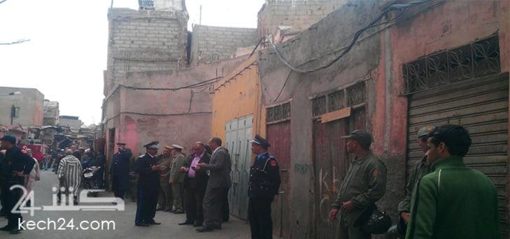 عاجل : انهيار منزل فوق رؤوس قاطنيه بعرصة الملاك في المدينة العتيقة لمراكش