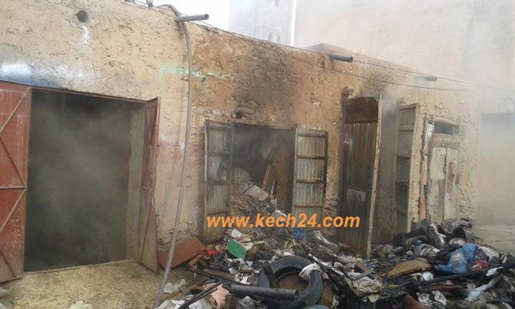 عاجل: إندلاع حريق بدكان للأثاث المستعمل بسيد الزوين ضواحي مراكش + صور