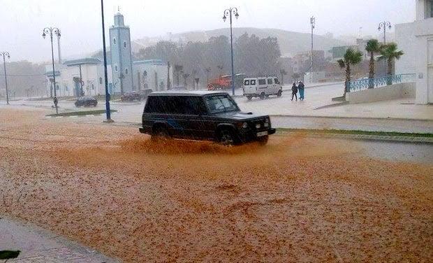 مقاييس التساقطات المطرية خلال الـ24 ساعة الماضية 30 يناير 2016