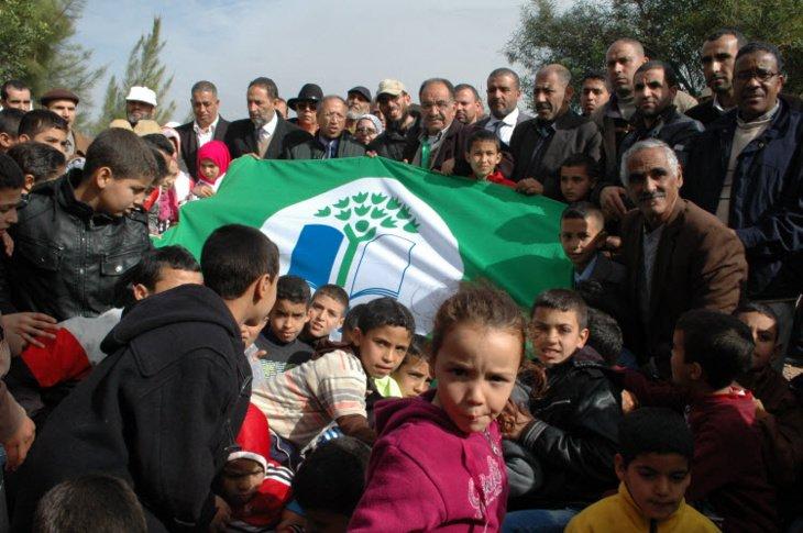 رفع اللواء الأخضر بمجموعة مدارس أولاد الحداد فرعية المرس نيابة قلعة السراغنة