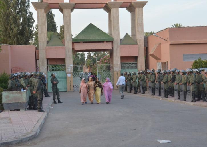 الإستنجاد بمصالح الداخلية لتوفير الأمن خلال فترة الامتحانات بجامعة القاضي عياض بمراكش