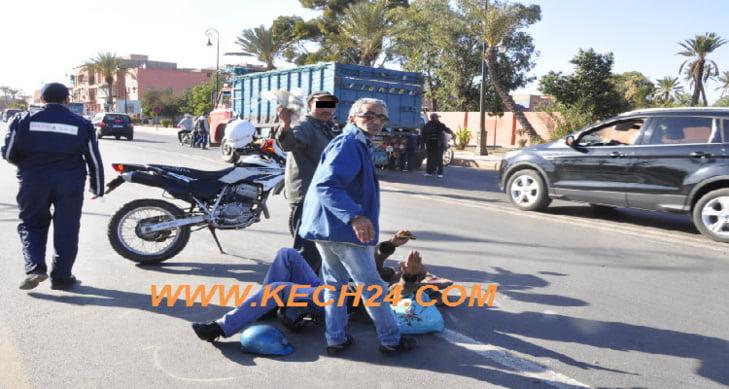 عاجل: إصابة شخص في اصطدام بين دراجتين من نوع