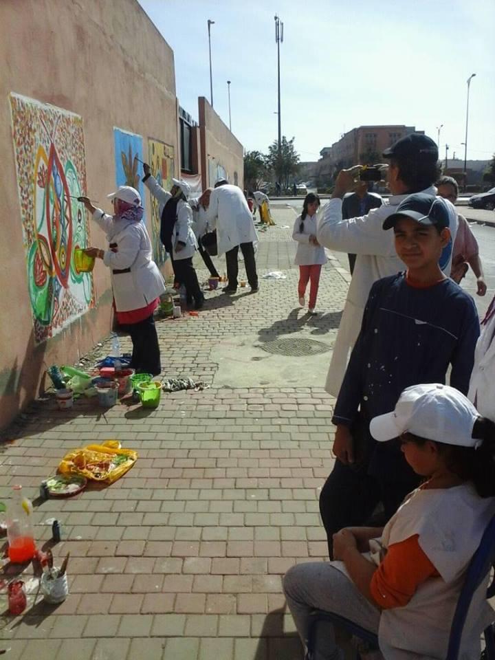 ورشة التضامن للفن والبيئة بمركز حماية الطفولة بمراكش + صور