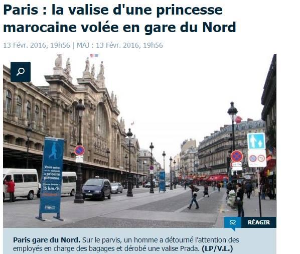 ابنة أميرة مغربية تتعرض للسرقة في محطة قطار بفرنسا + صورة