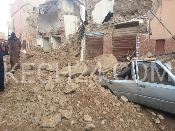 عاجل: انهيار منزل بالمدينة العتيقة لمراكش + صور حصرية