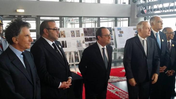 الملك محمد السادس يتباحث مع الرئيس الفرنسي ويزور معهد العالم العربي