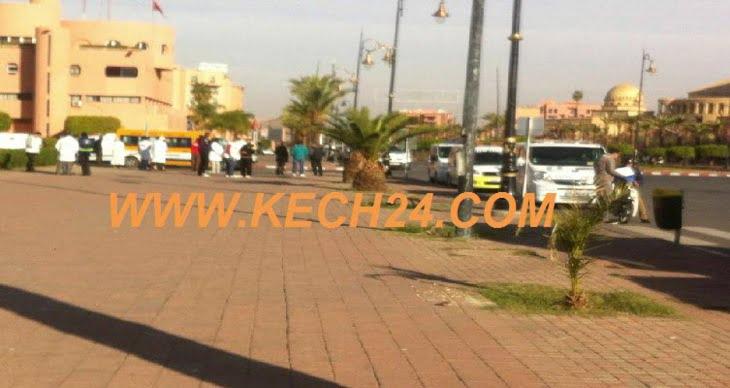 مهنيو سيارات نقل الأموات يحتجون أمام مقر المجلس الجماعي بمراكش لهذا السبب