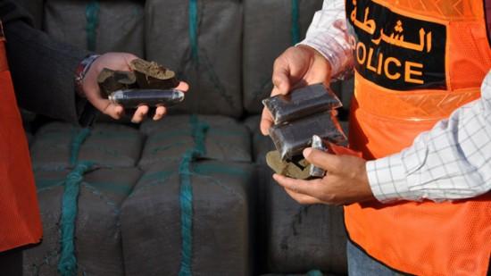 حجز 26 كلغ من مخدر الشيرا على متن سيارة يقودها مواطن إسباني