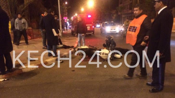 عاجل : طاكسي يتسبب في حادثة سير مروعة بجيليز مراكش + صور حصرية