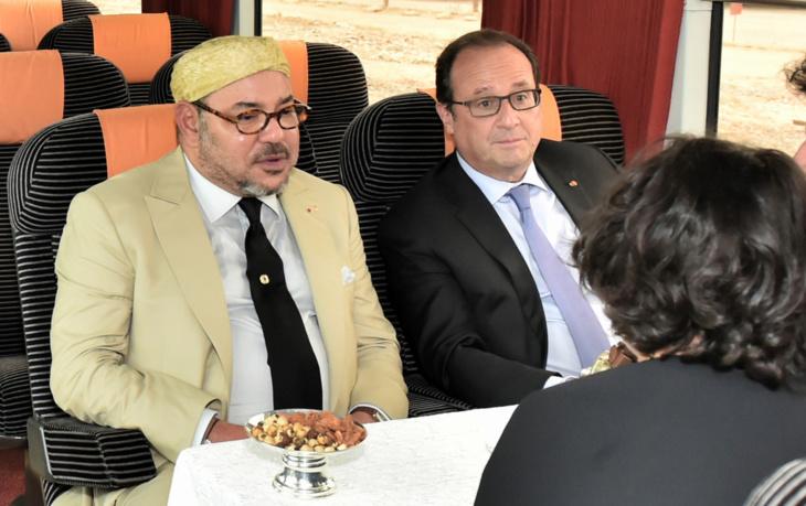 الملك محمد السادس يقيم مأدبة عشاء على شرف الرئيس الفرنسي