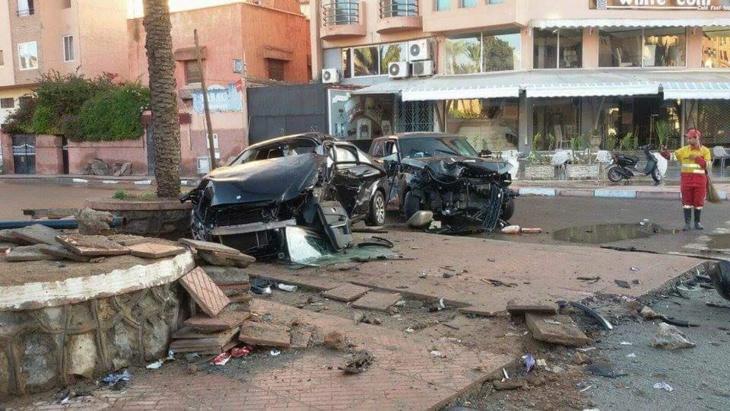 بالصورة: حادثة السير التي أودت بحياة إطار بنكي بمراكش