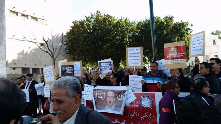 عشرات النقباء والمحامون يؤازرون الزميل عبد الله البقالي وهذا ما قررته المحكمة في الملف