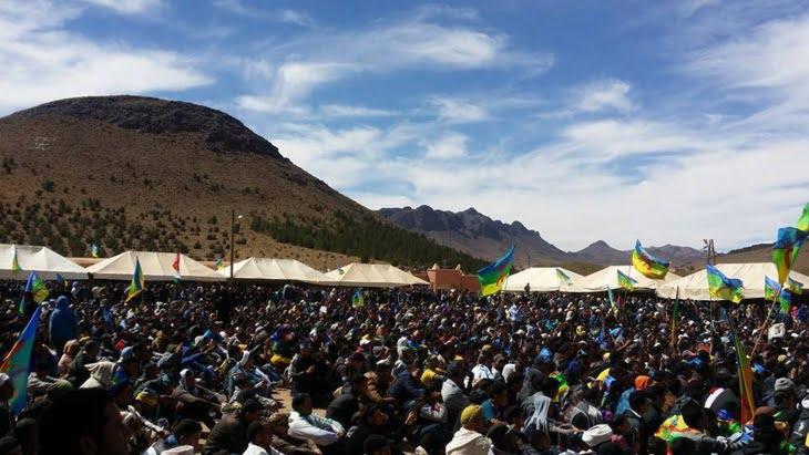 الأمازيغ يتدفقون على جبل صاغرو لتخليد أربعينية