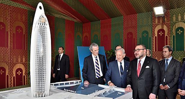 الملك محمد السادس يعطي إنطلاقة أشغال إنشاء أعلى برج في إفريقيا بالرباط