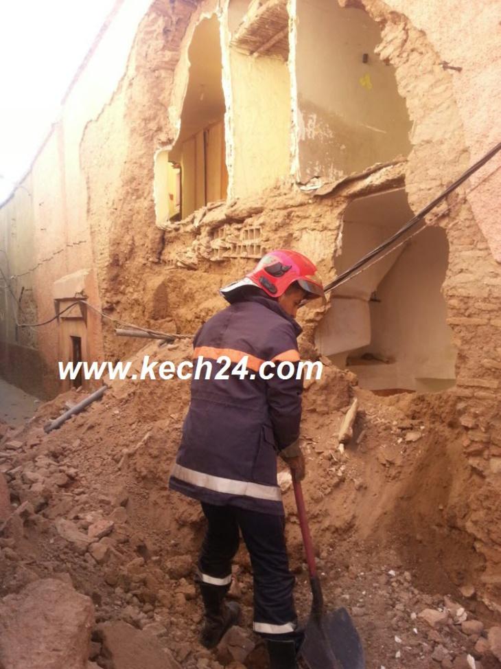 عاجل: انهيار منزل بالمدينة العتيقة يرسل بائع