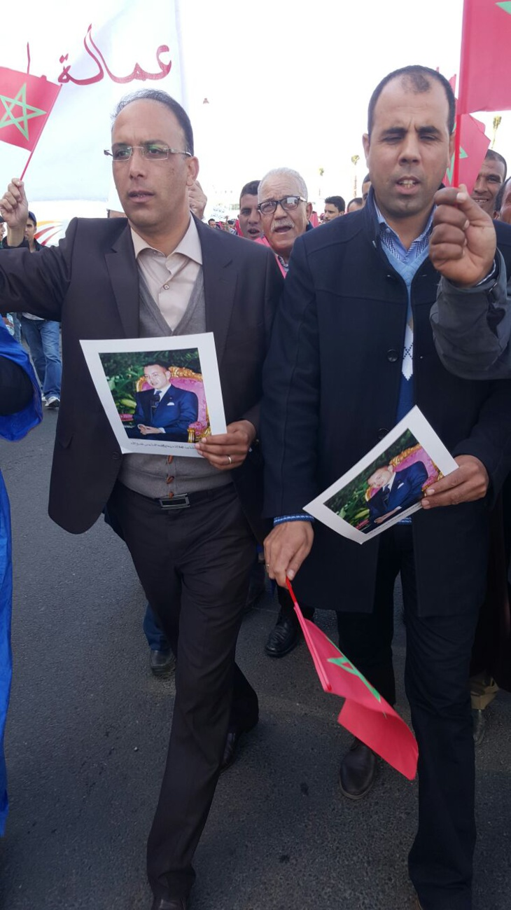 عمالة مراكش : ساكنة لمنابهة تشارك في المسيرة المليونية بالرباط + صور