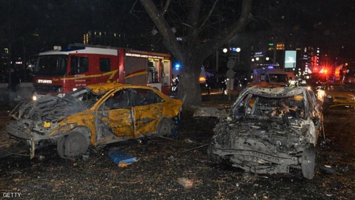 ارتفاع عدد قتلى تفجير أنقرة الى 32 شخصا
