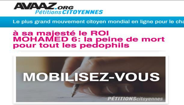 نشطاء يطلقون عريضة للمطالبة بإعدام مغتصبي الأطفال في المغرب