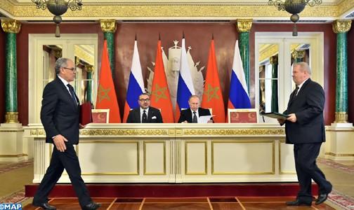 الملك محمد السادس والرئيس الروسي يترأسان حفل التوقيع على عدد من اتفاقيات التعاون