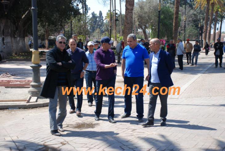 الوالي محمد مفكر يتفقد مشارع تهيئة حدائق بالمدينة العتيقة لمراكش + صور