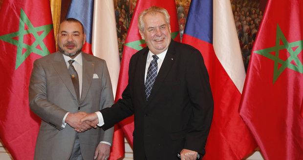 عاجل: الملك محمد السادس يلتقي الرئيس التشيكي في العاصمة