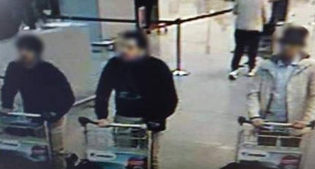 الكشف عن أولى صور مهاجمي مطار بروكسيل المفترضين