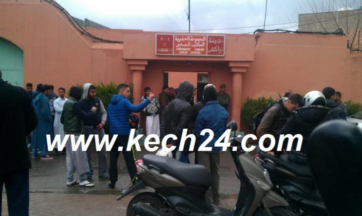 احتقان أمام مستودع الأموات بمراكش