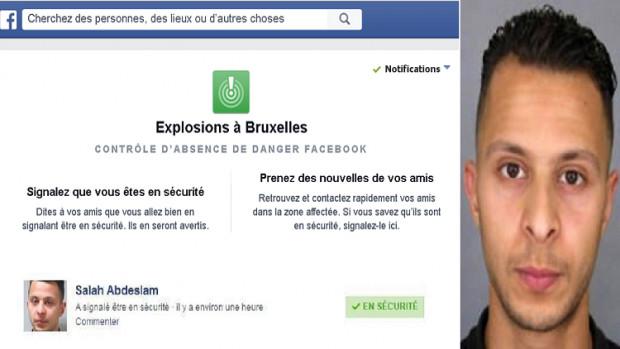صلاح عبد السلام يسخر من السلطات البلجيكية ويفعل خاصية الامان على حسابه بالفيسبوك