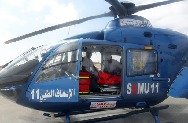 نقل طفل في حالة صحية حرجة عبر مروحية طبية من الداخلة إلى مراكش