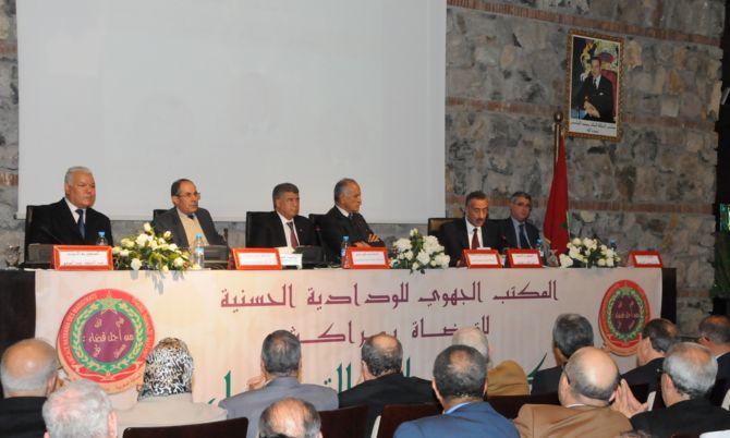 بالصور: الودادية الحسنية للقضاة بمدينة مراكش تكرم عبد العزيز الوقيدي والرحموني وعبد المنعم