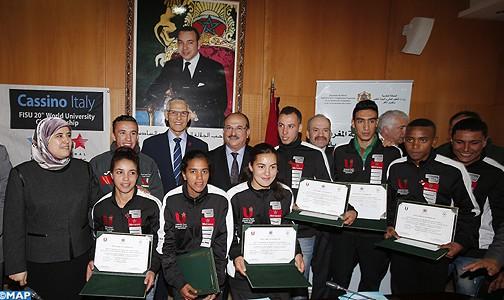 وزارة الداودي تحتفي بالمنتخب الوطني الجامعي للعدو الريفي الفائز ببطولة العالم بإيطاليا