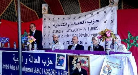 قياديو حزب العدالة والتنمية بجهة مراكش يقودون قافلة