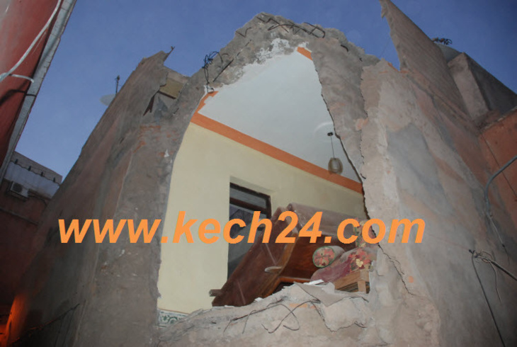 انهيار منزل بالمدينة العتيقة لمراكش + صور حصرية