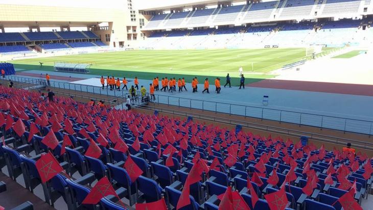 بالصور: هكذا يبدو ملعب مراكش لحظات قبيل مباراة المنتخب المغربي