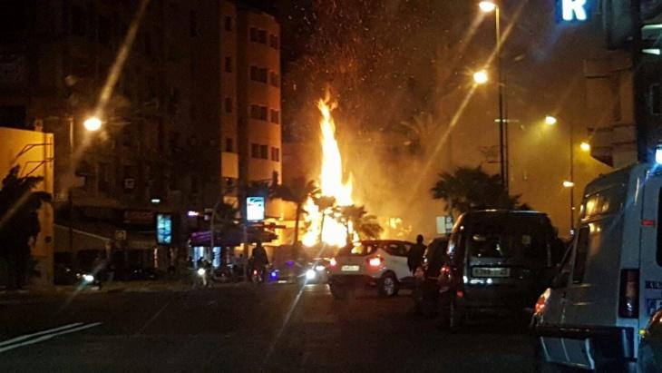 عاجل :اندلاع حريق بڤيلا بشارع الزرقطوني بجيليز مراكش + صور خاصة