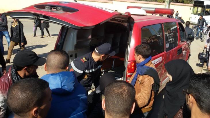 عاجل: حادثة سير تخلف إصابة 11 من لاعبي فريق مغربي لكرة القدم