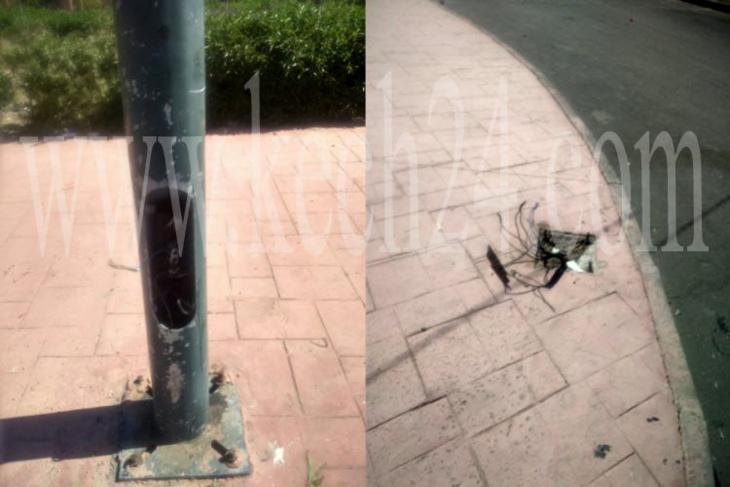 هكذا تحولت أعمدة الإنارة العمومية إلى خطر يهدد حياة المواطنين بهذه المنطقة من حي المحاميد بمراكش + صور