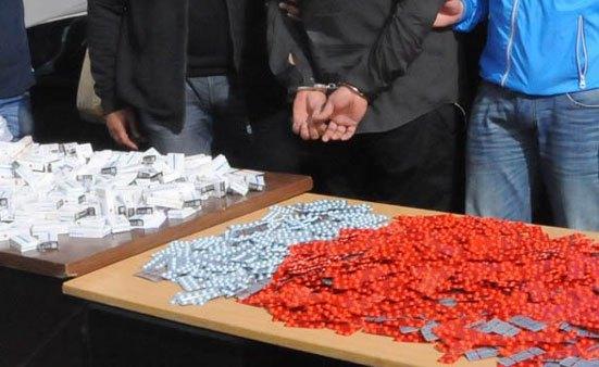 حجز كمية استثنائية من الأقراص المهلوسة وتوقيف مشتبه فيهم في جلبها