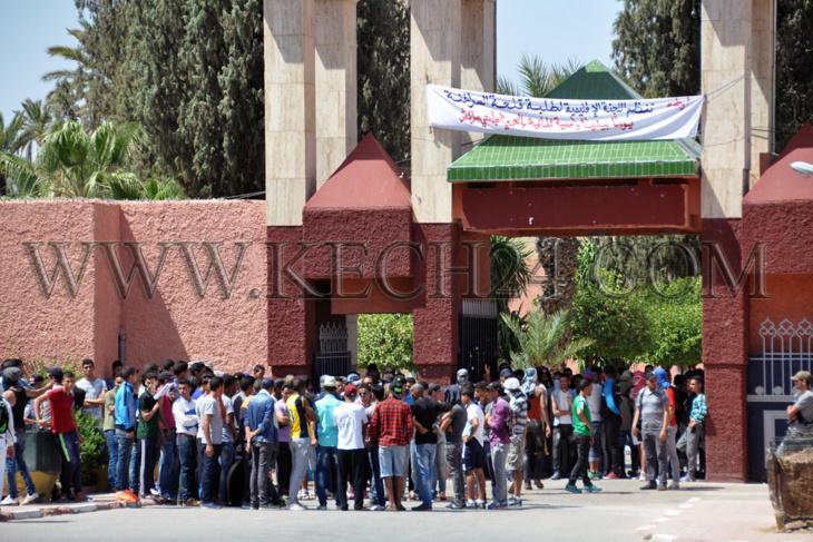 إنزال أمني مكثف بمحيط الحي الجامعي وكلية الحقوق بمراكش + صور