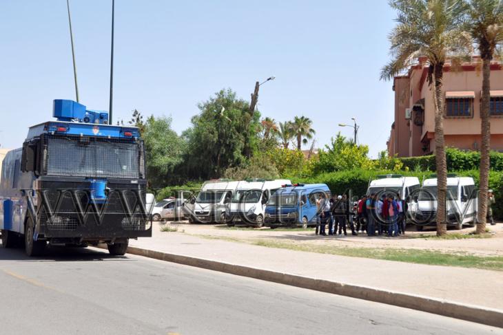 وصول تعزيزات أمنية جديدة وسط توقعات باقتحام الحي الجامعي لجامعة القاضي عياض بمراكش