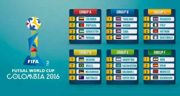 المنتخب المغربي يتعرف على منافسيه بكأس العالم لكرة القدم داخل الصالات