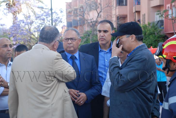 والي الجهة مفكر و والي الأمن سعيد العلوة في قلب مواجهات الحي الجامعي بمراكش + صور
