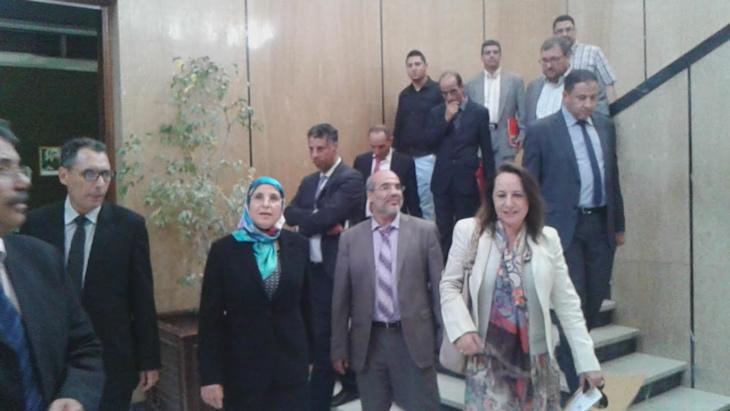 الوزيرة بسيمة الحقاوي تتفقد أشغال إنجاز الولوجيات بمقر المجلس الجماعي بمراكش+ صور